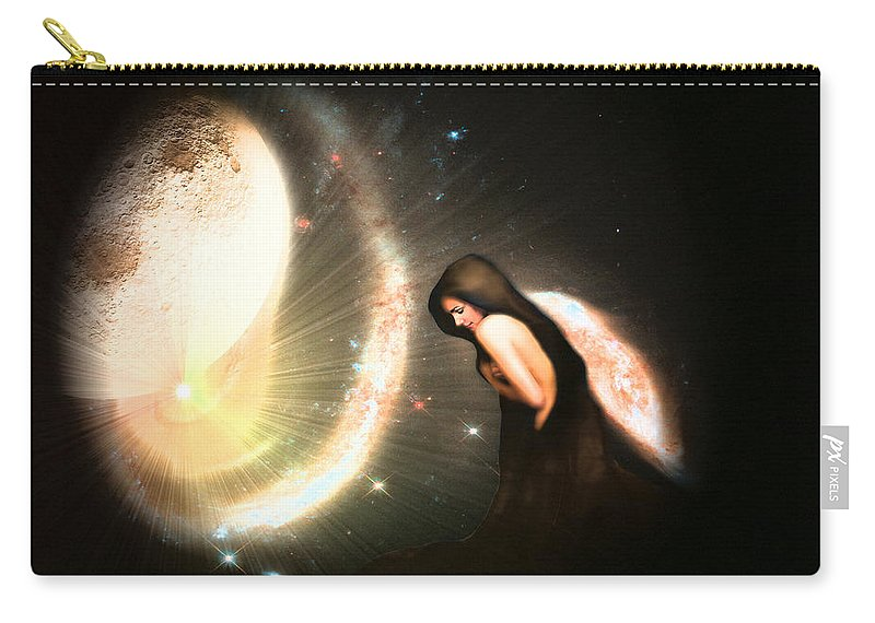 Tranquil Carry-all Pouch featuring the digital art Tranquil by Brainwave Pictures