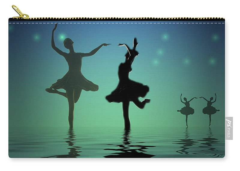 Ballerina Carry-all Pouch featuring the photograph Tranquil Persuasion by Joyce Dickens