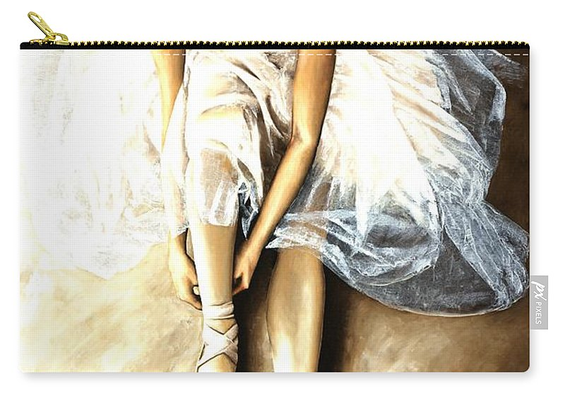 Ballet Carry-all Pouch featuring the painting Tranquil Preparation by Richard Young