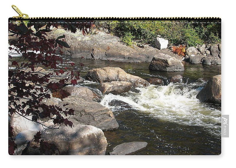 River Carry-all Pouch featuring the photograph Tranquil Spot by Kelly Mezzapelle