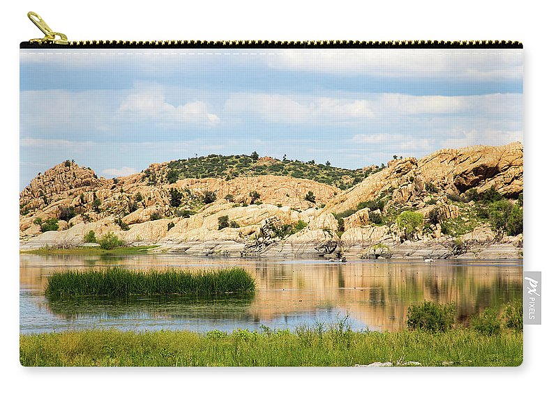 Landscape Carry-all Pouch featuring the photograph Tranquil Willow Lake by Amy Sorvillo