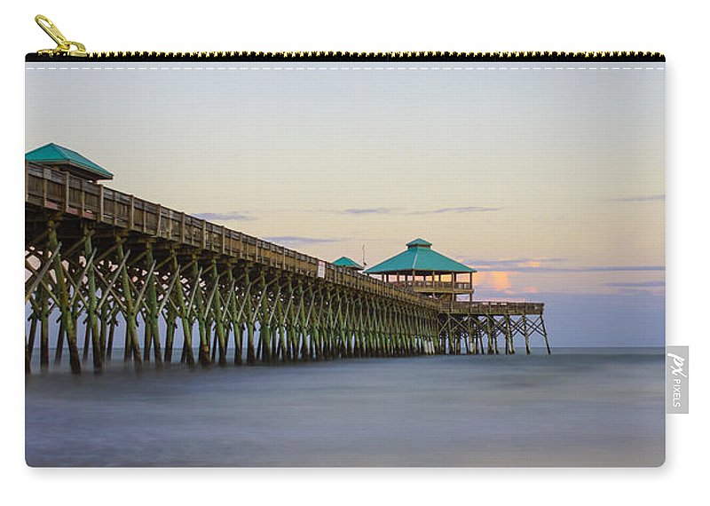 America Carry-all Pouch featuring the photograph Tranquility At Folly by Jennifer White