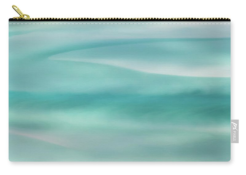 Whitehaven Beach Carry-all Pouch featuring the photograph Tranquil Turmoil by Az Jackson