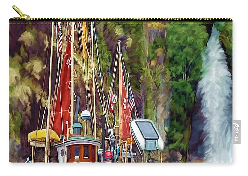 Boats Carry-all Pouch featuring the painting Tranquility by David Wagner