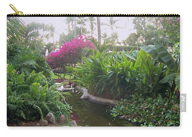 Photo Carry-all Pouch featuring the pyrography Tranquility by George Pasini