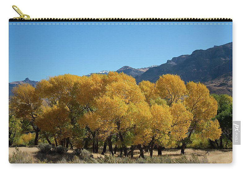 Cody Carry-all Pouch featuring the photograph Tranquility in Golds and Yellows by Frank Madia