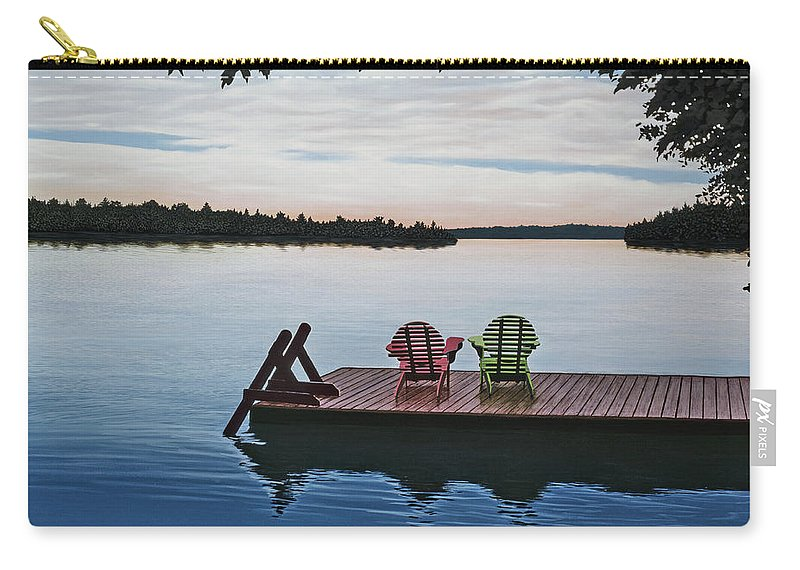 Landscapes Paintings Carry-all Pouch featuring the painting Tranquility by Kenneth M Kirsch