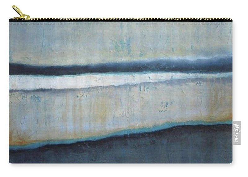 Abstract Carry-all Pouch featuring the painting Tranquility Of The Dusk by Vesna Antic
