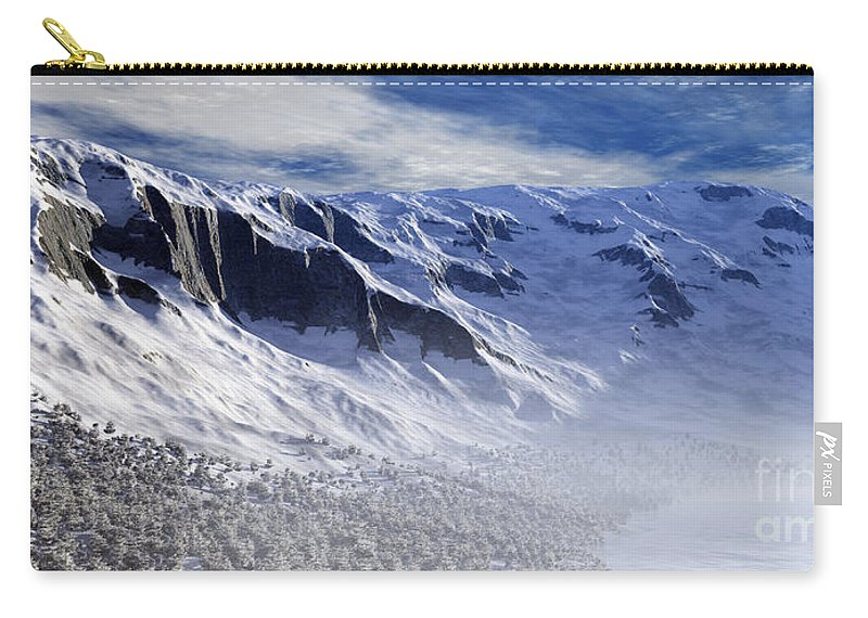 Mountains Carry-all Pouch featuring the digital art Tranquility by Richard Rizzo
