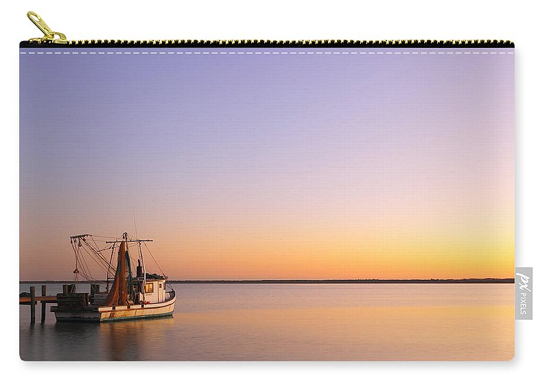 Texas City Carry-all Pouch featuring the photograph Shrimp Trawler At Dusk 2am-109249 by Andrew McInnes