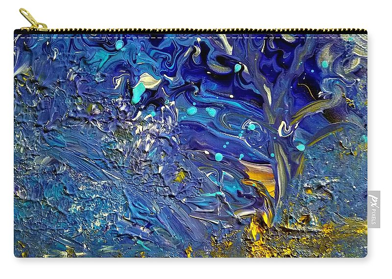 Tree Carry-all Pouch featuring the painting Tranquility Tree by Nicole Clark