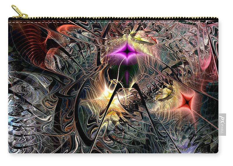 Abstract Carry-all Pouch featuring the digital art Transcendence In Retrograde by Casey Kotas