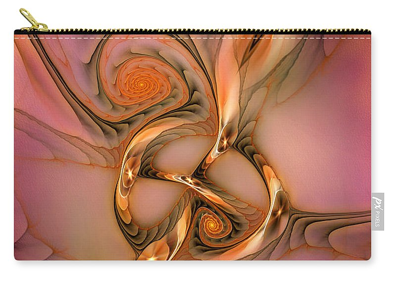Abstract Carry-all Pouch featuring the digital art Transferring Affections by Casey Kotas