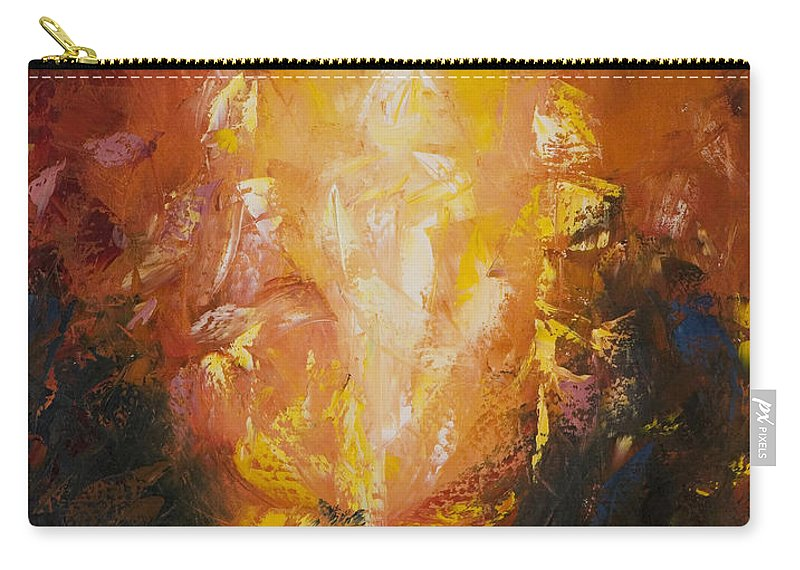 Abstract Carry-all Pouch featuring the painting Transfiguration by Lewis Bowman