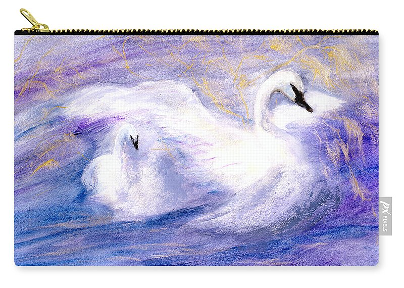 Birds Carry-all Pouch featuring the painting Transformation by Gail Kirtz