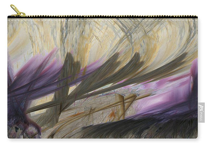 Abstract Art Carry-all Pouch featuring the digital art Transformation by Linda Sannuti