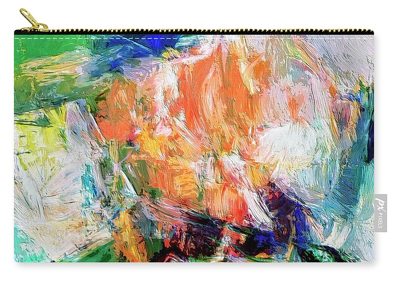 Abstract Carry-all Pouch featuring the painting Transformer by Dominic Piperata