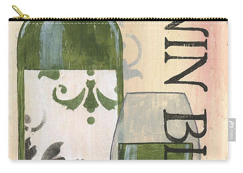 White Wine Carry-all Pouch featuring the painting Transitional Wine Chenin Blanc by Debbie DeWitt