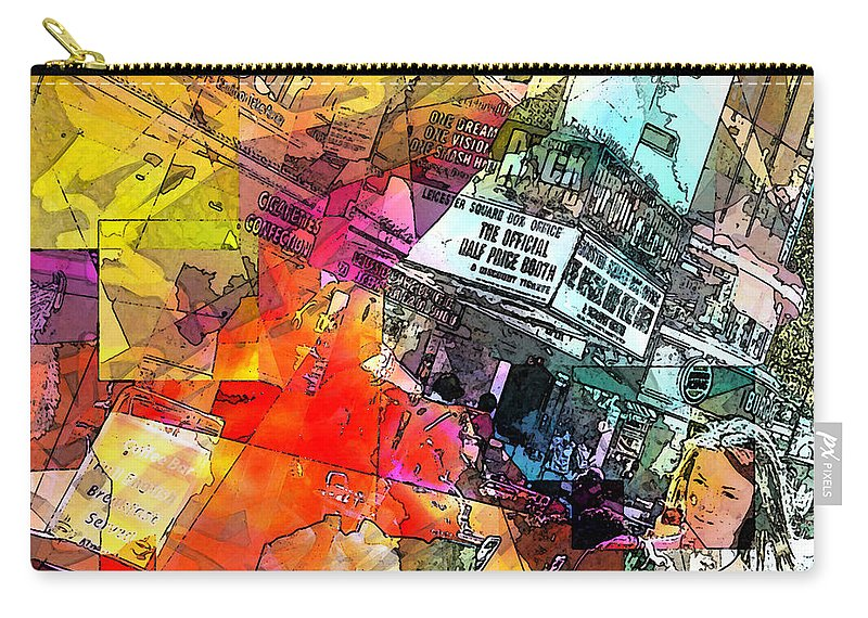 City. Colors Carry-all Pouch featuring the digital art Translate by Agnes V