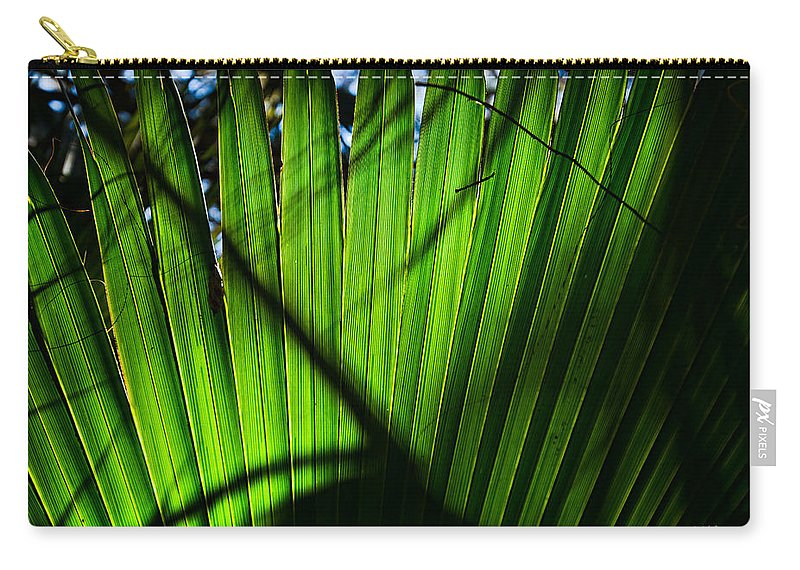 Palmetto Carry-all Pouch featuring the photograph Translucent Green by Christopher Holmes