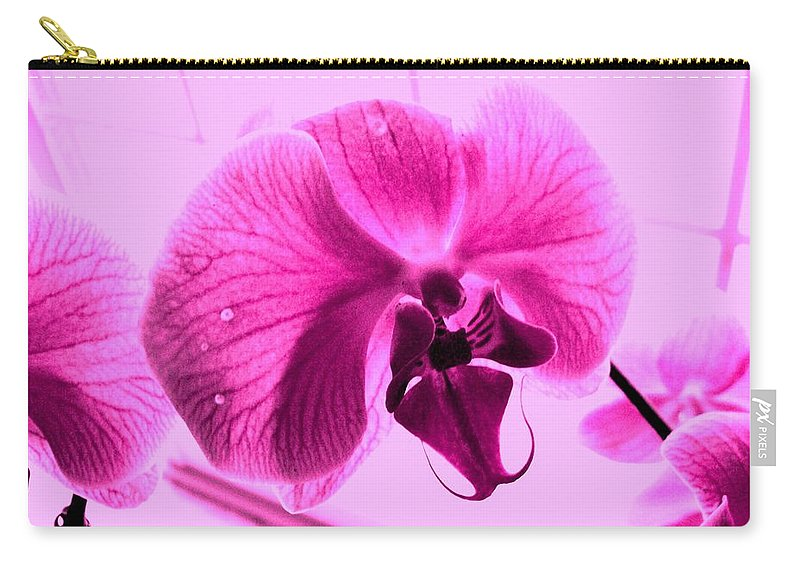 Purple Carry-all Pouch featuring the photograph Translucent Purple Petals by Michael Grubb