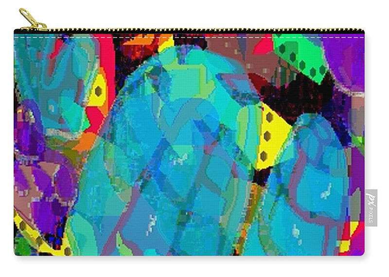 Digital Carry-all Pouch featuring the digital art Transparencies by Ron Bissett