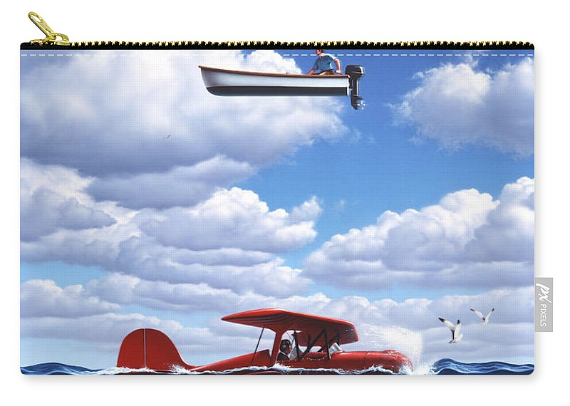 Boat Carry-all Pouch featuring the painting Transportation by Jerry LoFaro
