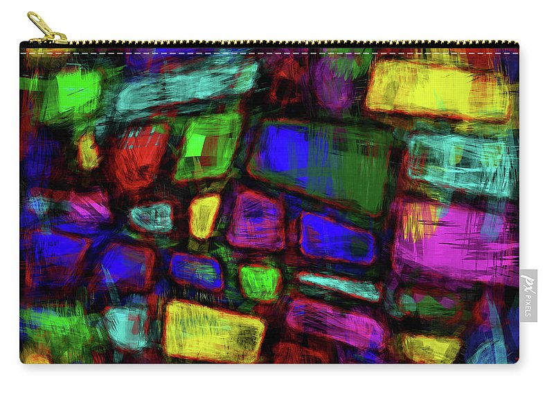 Trapezoid Carry-all Pouch featuring the digital art Trapezoidal Skews by Diane Parnell