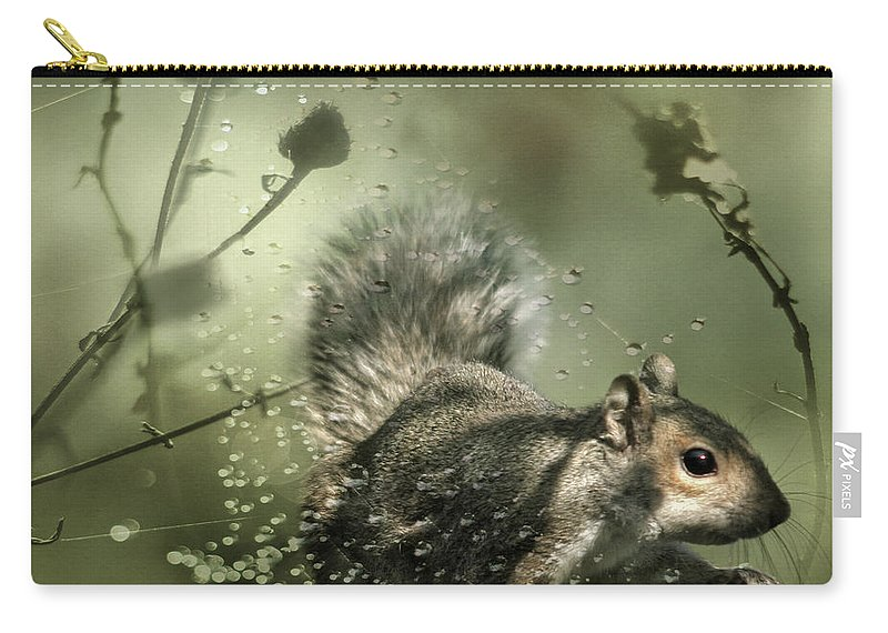 Cobweb Carry-all Pouch featuring the photograph Trapped by Angel Ciesniarska