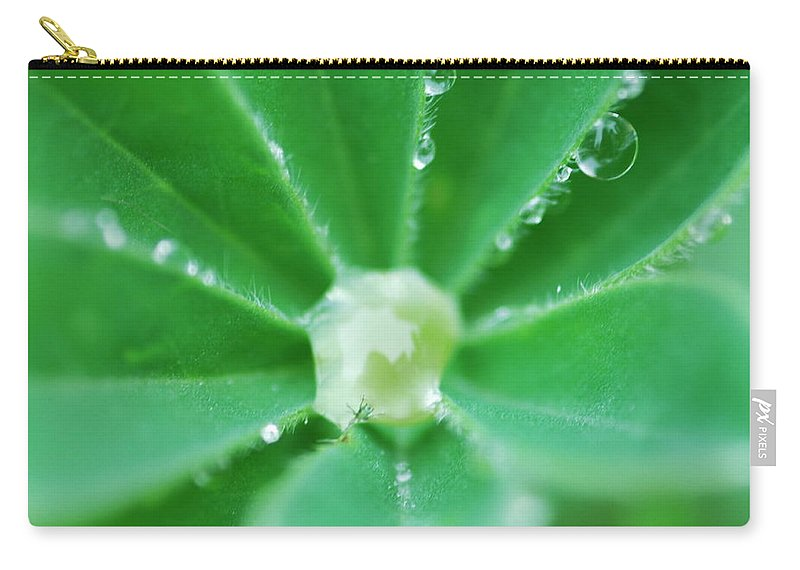 Botanical Carry-all Pouch featuring the photograph Trapped In A Bubble by Donna Blackhall