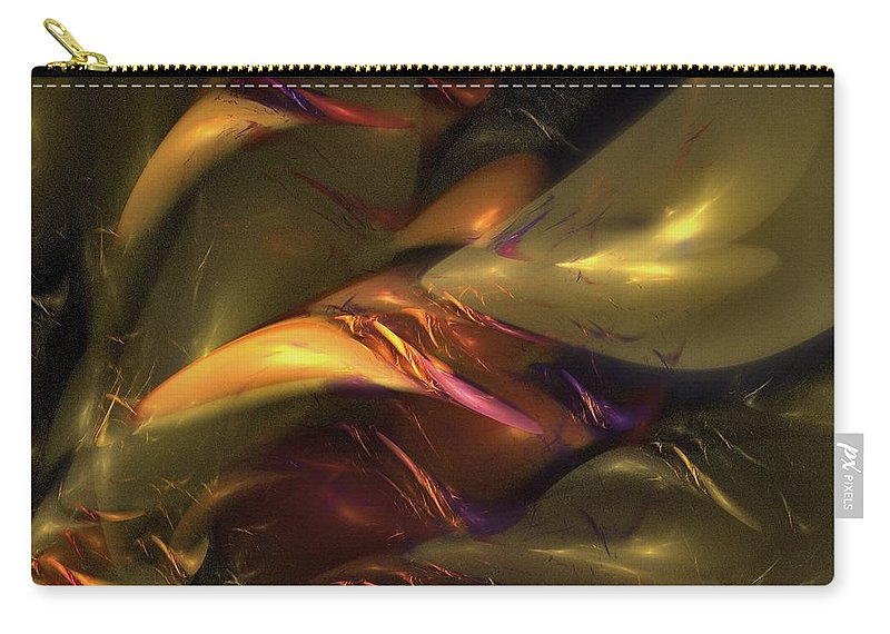 Amber Carry-all Pouch featuring the digital art Trapped In Amber by NirvanaBlues