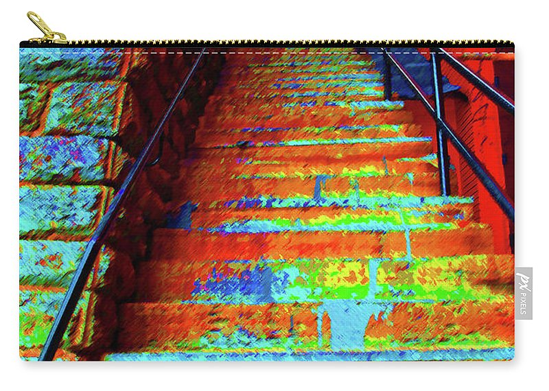 Georgetown Carry-all Pouch featuring the photograph Travel-exorcist Steps by Jost Houk