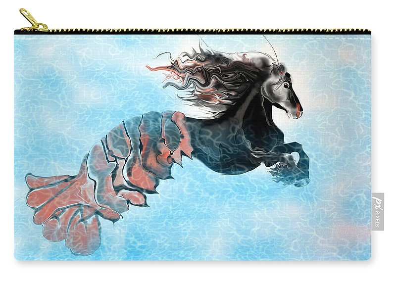 Carry-all Pouch featuring the digital art Traveler by Subbora Jackson