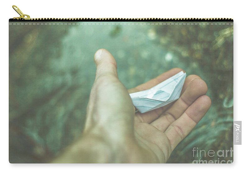 Boat Carry-all Pouch featuring the photograph Travelling Dreams by Jorgo Photography - Wall Art Gallery