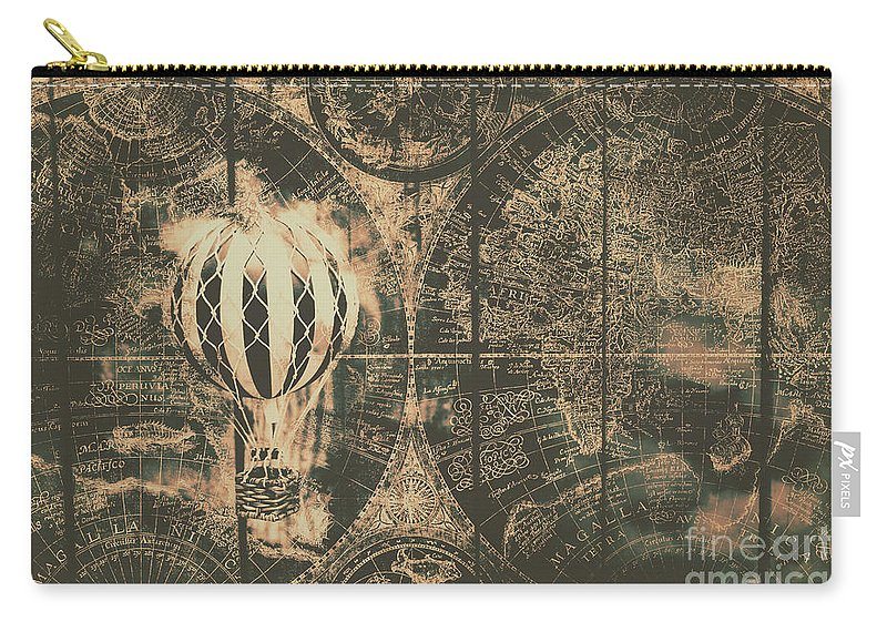 Vintage Carry-all Pouch featuring the photograph Travelling The Old World by Jorgo Photography - Wall Art Gallery
