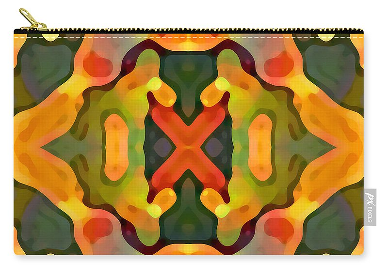 Abstract Carry-all Pouch featuring the painting Treasure by Amy Vangsgard