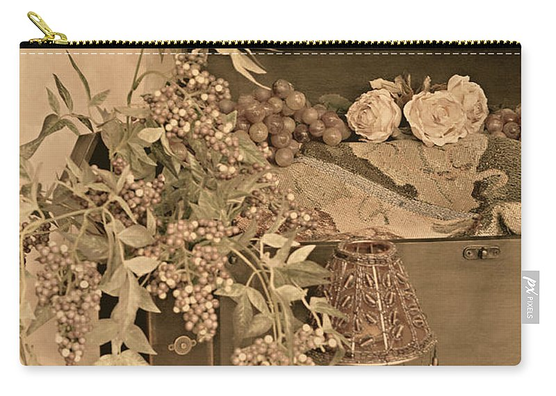 Still Life Carry-all Pouch featuring the photograph Treasure Chest Full Of Memories No.1 by Sherry Hallemeier