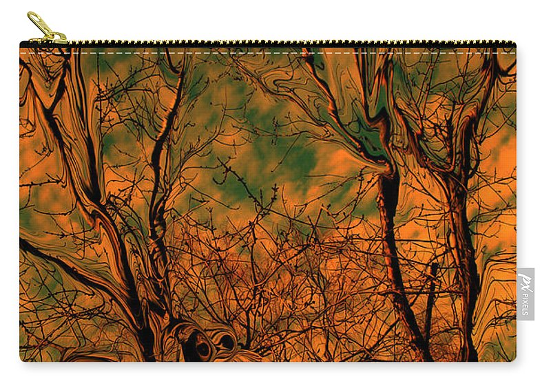 Trees Carry-all Pouch featuring the photograph Tree Abstract by Linda Sannuti