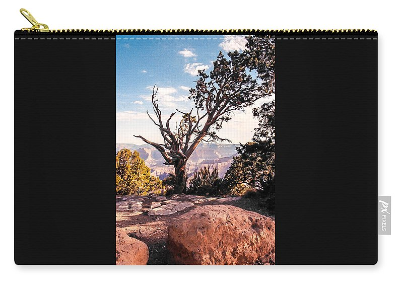 Grand Canyon Carry-all Pouch featuring the photograph Tree At Moran Point by Mike Wheeler
