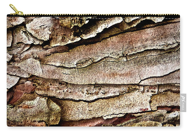 Tree Bark Carry-all Pouch featuring the photograph Tree Bark Abstract by Onyonet Photo Studios