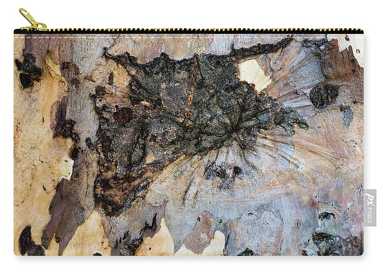 Tree Bark Patterns Carry-all Pouch featuring the photograph Tree Barks Pattern #13 by Robert VanDerWal
