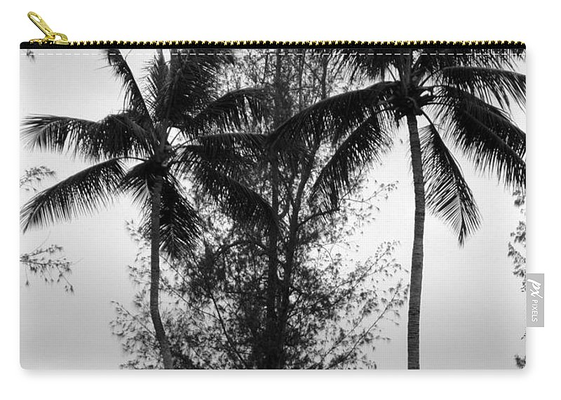 Palms Carry-all Pouch featuring the photograph Tree Between The Trees by Deborah Crew-Johnson