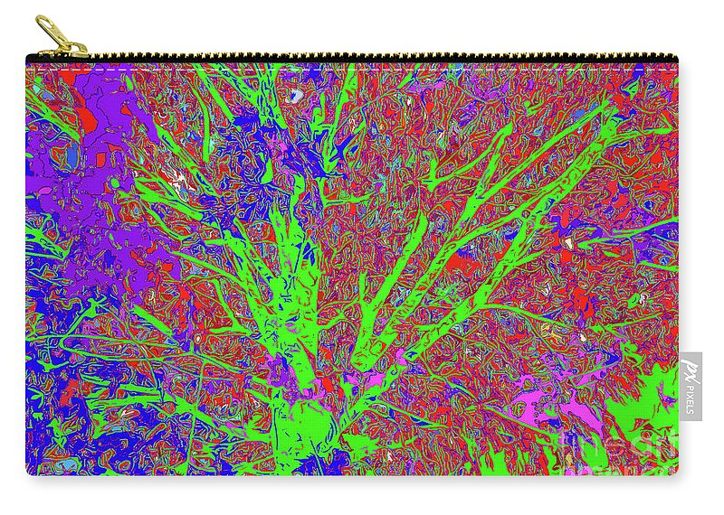 Tree Branches 7 Carry-all Pouch featuring the digital art Tree Branches 7 by Chris Taggart