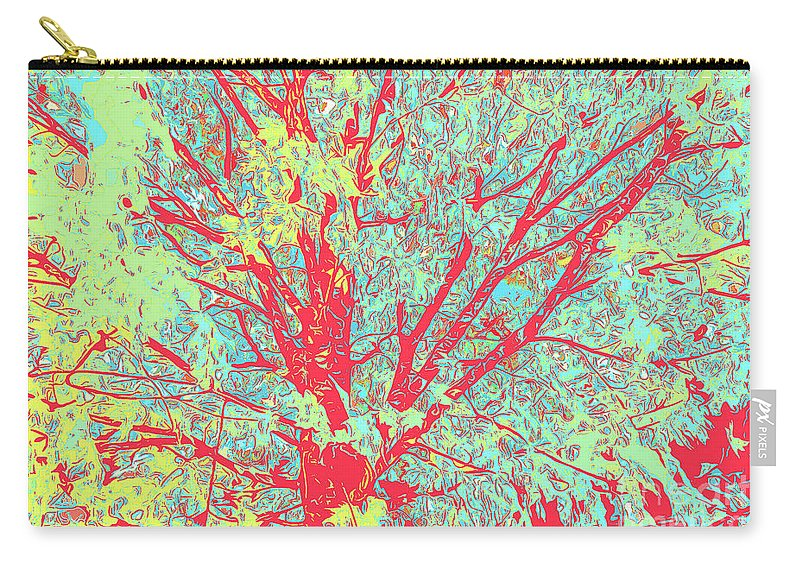 Tree Branches 8 Carry-all Pouch featuring the digital art Tree Branches 8 by Chris Taggart