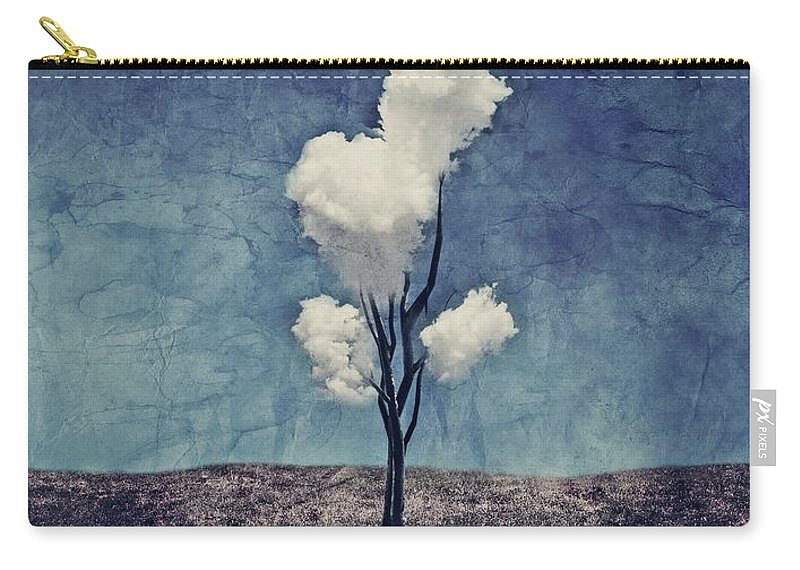 Tree Carry-all Pouch featuring the digital art Tree Clouds 01d2 by Aimelle