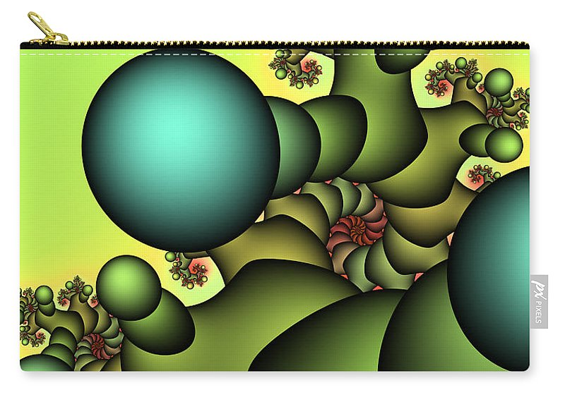 Fractal Carry-all Pouch featuring the digital art Tree Giant by Jutta Maria Pusl