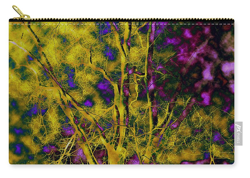 Abstract Carry-all Pouch featuring the photograph Tree Glow by Linda Sannuti