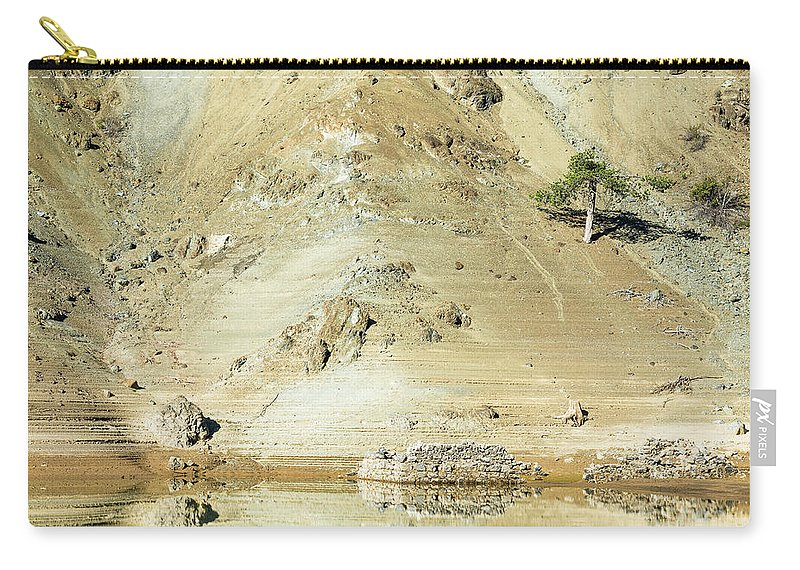 Landscape Carry-all Pouch featuring the photograph Tree In The Desert by Michalakis Ppalis