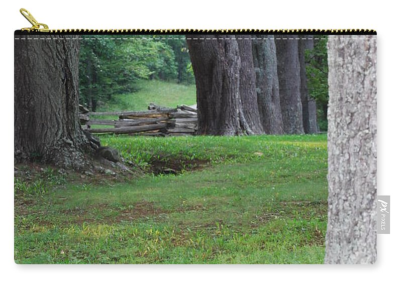 Trees Carry-all Pouch featuring the photograph Tree Line by Eric Liller