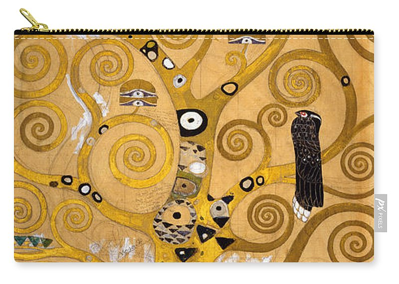 Klimt Carry-all Pouch featuring the painting Tree Of Life by Gustav Klimt